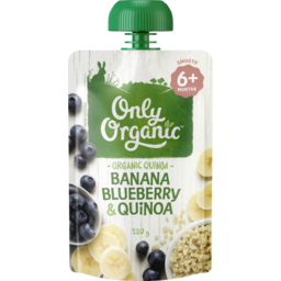 Photo of Only Organic Baby Food Pouch Banana Blueberry & Quinoa 6+ Month 120g