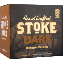 Photo of Stoke Beer Dark Hand Crafted 330ml Bottles 12 pack