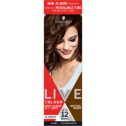 Photo of Schwarzkopf Live Natural Brown Semi Permanent Hair Colour Resealable Tube 1application