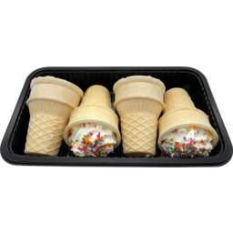 Photo of Sprinkle Mallow Cones 4 Pack 128g