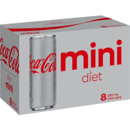 Photo of Coca Cola Diet Mini Soft Drink Cans 8x250ml