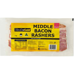 Photo of Black & Gold Bacon Mid Rasher 1kg