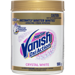 Photo of Vanish Napisan Oxi Action Gold Pro Fabric Stain Remover + Whitener Crystal White 900g