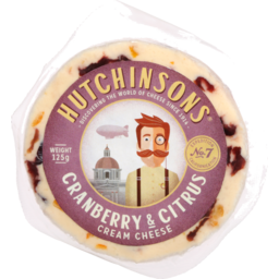 Photo of Hutchinsons Flavoured Cream Cheese Cranberry Citrus 125g