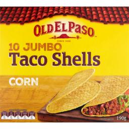 Photo of Old El Paso Jumbo Taco Shells 10pk