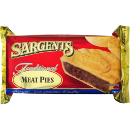 Photo of Sargents Traditional Pies Meat Frozen 4 Pack 700g