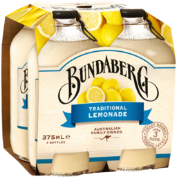 Photo of Bundaberg Traditional Lemonade 4x375ml Bottles