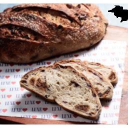 Photo of Luxe Bakery Fig & Raisin Sourdough Batard (Sliced)