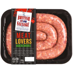 Photo of British Sausage Premium Boerewors 450gm