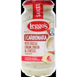 Photo of Leggo's Carbonara With Fresh Cream, Onion & Cheese Pasta Sauce 490g