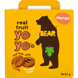 Photo of Bear Mango Yo Yos Real Fruit & Veg Rolls Multipack 100g