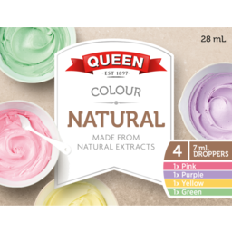 Photo of Queen Food Colouring Natural Rainbow Multi Pack 4 X 7ml) 28ml
