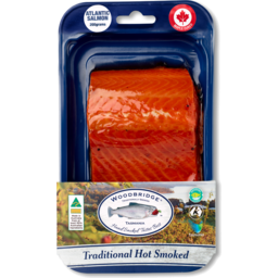 Photo of Hot Smoked Atlantic Salmon Portions - Maple Cured 150g