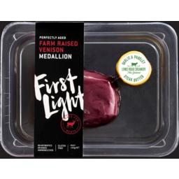 Photo of First Light Farm Raised Venison Medallion 150g