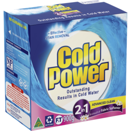Photo of Cold Power 2 In 1 Softener, Powder Laundry Detergent, 900g