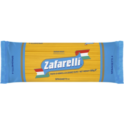 Photo of Zafarelli Pasta No4 Spaghetti 500g