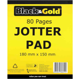 Photo of Black & Gold Jotter Pad 18 X 15cm 80 Pages