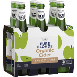 Photo of Pure Blonde Organic Cider 355ml 6 Pack