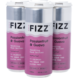 Photo of Hard Fizz Passionfruit & Guava Seltzer Cans 4 X 330ml