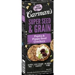 Photo of Carman's Pepita & Poppy Seed Super Seed & Grain Crackers 80g