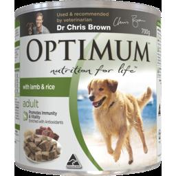 Photo of Optimum Adult Lamb Rice 700g