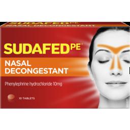 Photo of Sudafed Pe Nasal Decongestant Tablets 10 Pack
