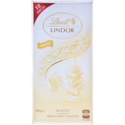 Photo of Lindt Lindor Chocolate White Block 100g