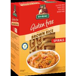 Photo of San Remo Gluten Free Brown Rice Spirals 250g