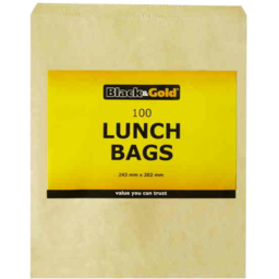 Photo of Black & Gold Lunch Bags 100