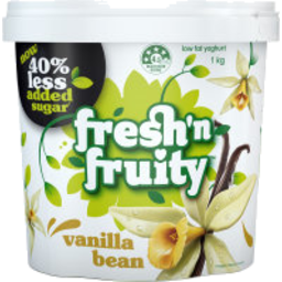 Photo of Fresh n Fruity 40% Less Sugar Yoghurt Vanilla 1kg