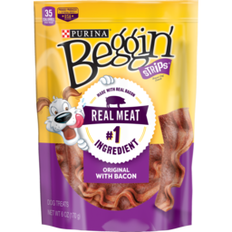 Photo of Purina Beggin' Strips Pet Food Original With Bacon 170g