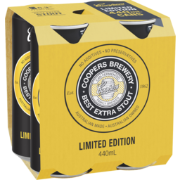 Photo of Coopers Best Extra Stout Cans - 4 X 440ml