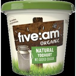 Photo of Five Am Natural organic Yoghurt 700g