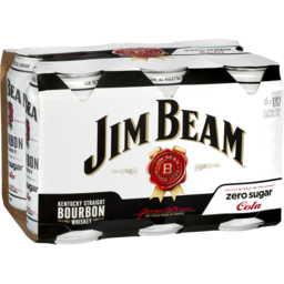 Photo of Jim Beam & Zero 4.8% 6*375ml
