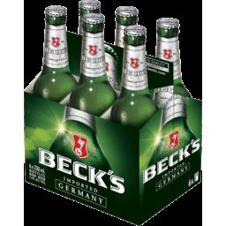 Photo of Becks Beer 4% 330ml 6 Pack