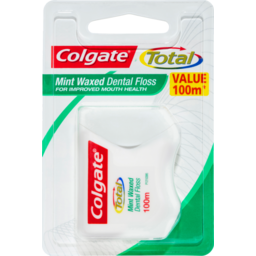 Photo of Colgate Total Mint Waxed Durable Oral Care Dental Floss Value Pack 100m
