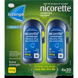 Photo of Nicorette Quit Smoking Cooldrops Lozenge Icy Mint Extra Strength 20x4