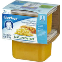 Photo of Gerber Nature Select 2nd Foods Macaroni & Cheese With Vegetables Dinner - 2 Ct