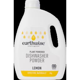 Photo of Earthwsie Dishwasher Powder Lemon 2kg