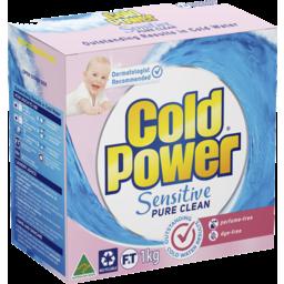 Photo of Cold Power Laundry Powder Sensitive Pure Clean 1kg