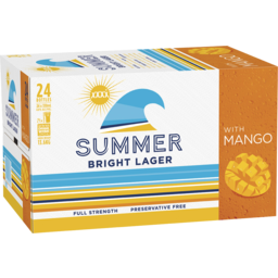 Photo of XXXX Summer Bright Lager with Mango Stubbies