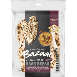 Photo of Bazaar® Naan Bread Plain 2 Pack