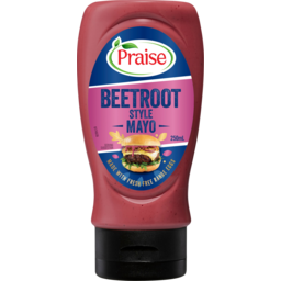 Photo of Praise Beetroot Style Mayo Made With Fresh Free Range Eggs Squeeze 250ml