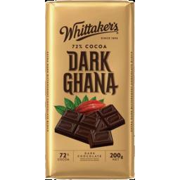 Photo of Whittaker's 72% Dark Ghana Block 200gm