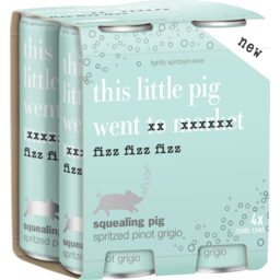 Photo of Squealing Pig Spritzed Pinot Grigio Cans
