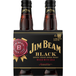 Photo of Jim Beam Black Label & Cola Stubbies