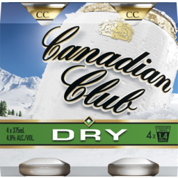 Photo of Canadian Club Whisky & Dry Cans
