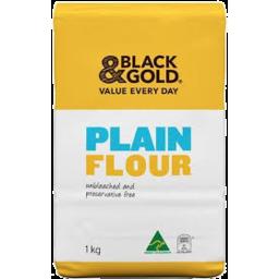 Photo of Black & Gold Plain Flour 1kg