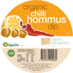 Photo of Organic Indulgence Chilli Hommus Dip 200g