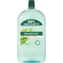 Photo of Palmolive Antibacterial Liquid Hand Wash Soap Sea Minerals Refill & Save 0% Parabens Recyclable 1l